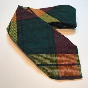 Vintage Plaid Wool Tie MacMillan Old Scotch Tartan